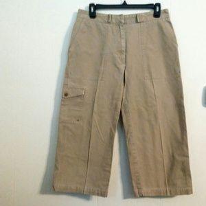 Tan Khaki Lauren Ralph Lauren Capri Pants Size 8